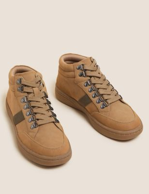 Lace Up Ankle Trainer Boots