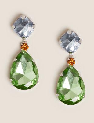 Jewel Drop Statement Earrings