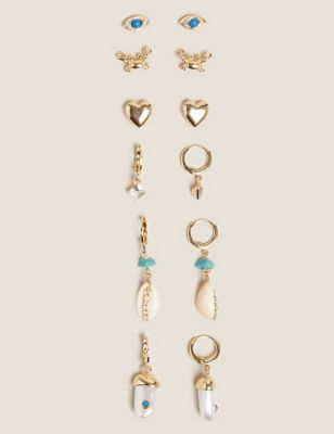 6 Pack Sparkle Mixed Earrings