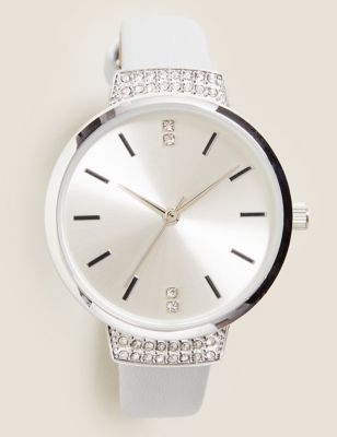 Small Round Face Sparkle Watch
