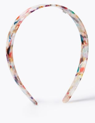 Resin Multicoloured Alice Hair Band
