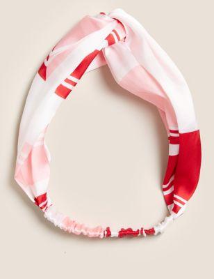 Satin Printed Knot Headband