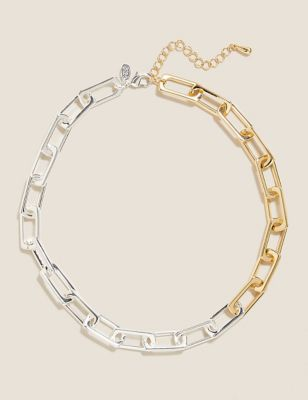 Gold & Silver Tone Link Chain Necklace