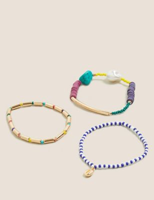 3 Pack Mixed Beaded Bracelets