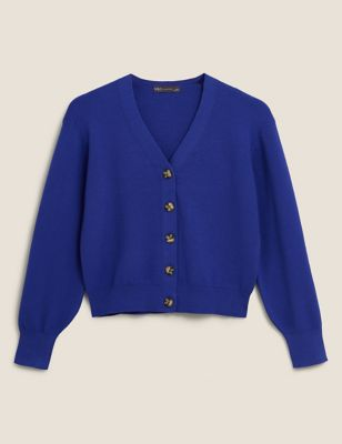 Soft Touch V-Neck Button Front Cardigan