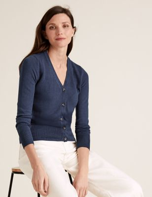 Supersoft V-Neck Button Front Cardigan