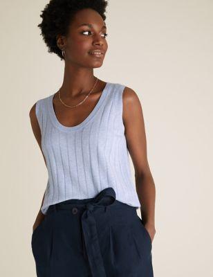 Linen Knitted Vest