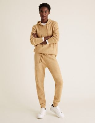 Knitted Drawstring Cuffed Joggers