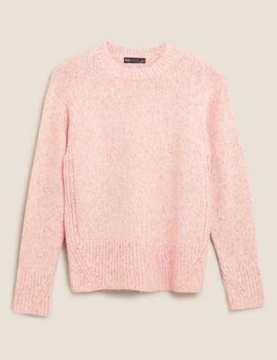 Textured Crew Neck Relaxed Jumper