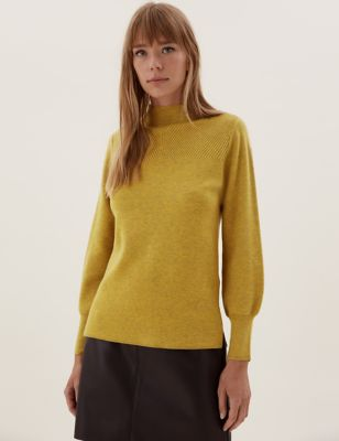 Soft Touch Funnel Neck Relaxed Jumper
