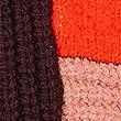 Colour Block Turtle Neck Jumper , ORANGE, swatch