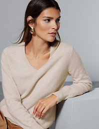 Pure Cashmere V Neck Relaxed Jumper | Autograph | M&S