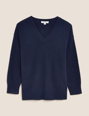 Pure Cashmere V-Neck Relaxed Jumper