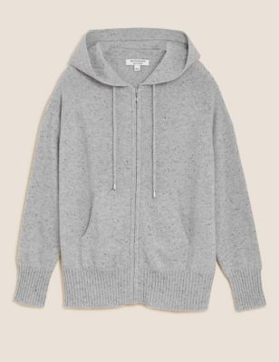 Pure Cashmere Textured Relaxed Hoodie