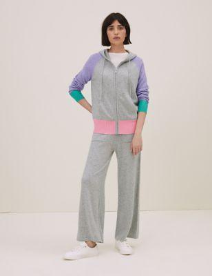 Pure Cashmere Colour Block Hoodie
