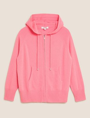 Pure Cashmere Knitted Relaxed Hoodie
