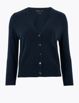 Pure Cashmere Cropped Cardigan