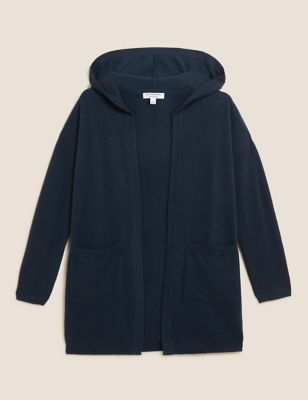 Pure Cashmere Hooded Cardigan
