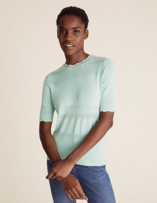 Knitted Crew Neck Top