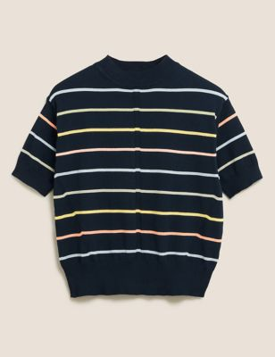 Cotton Striped Knitted Top