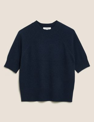 Pure Cashmere Short Sleeve Jumper