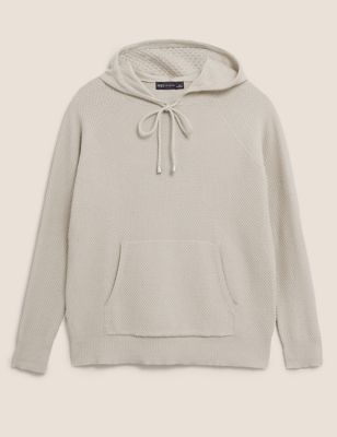 Soft Touch Textured Knitted Hoodie