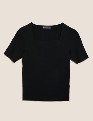 Soft Touch Fitted Knitted Top