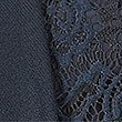 Lace Front 3/4 Sleeve Cardigan, NAVY, swatch