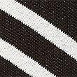 Striped V-Neck Half Sleeve Jumper, BLACK MIX, swatch