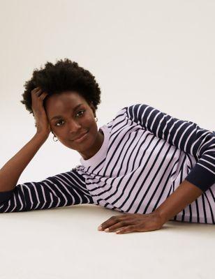 Pure Merino Wool Striped Jumper