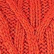 Cable Knit Turtle Neck Jumper, ORANGE, swatch