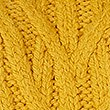 Cable Knit Turtle Neck Jumper, GOLD, swatch