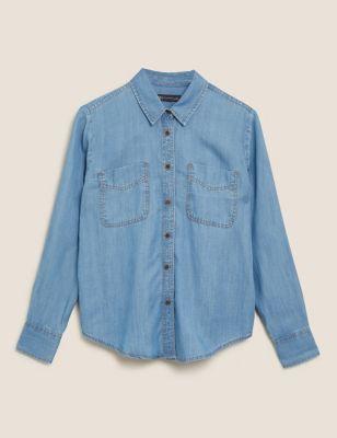 Tencel™ Denim Long Sleeve Shirt