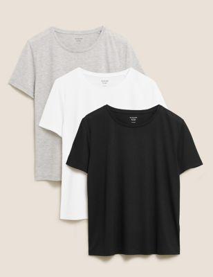 3 Pack Crew Neck Short Sleeve T-Shirts