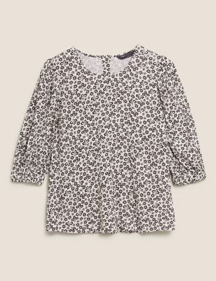 Ditsy Floral Puff Sleeve Blouse