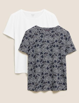 2 Pack Floral Relaxed T-Shirts