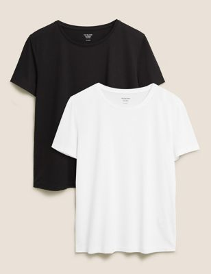 2 Pack Crew Neck Relaxed T-Shirts