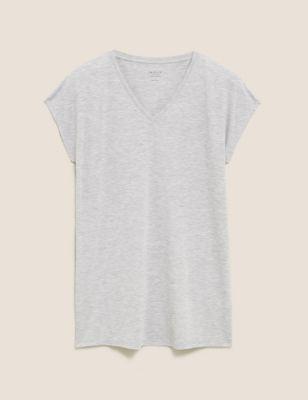 V-Neck Relaxed Longline T-Shirt
