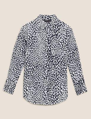 Pure Cotton Animal Print Long Sleeve Shirt