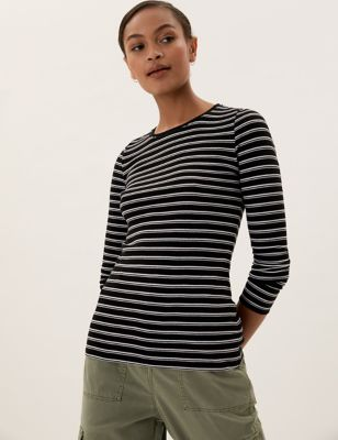 Pure Cotton Striped Regular Fit Top