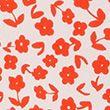 Floral Regular Fit 3/4 Sleeve Peplum Top - whitemix