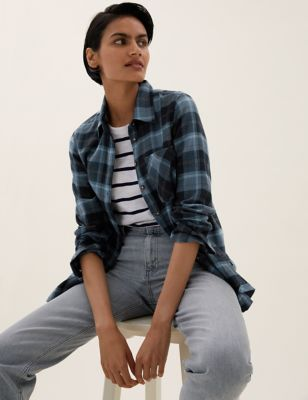 Checked Collared Regular Fit Shirt