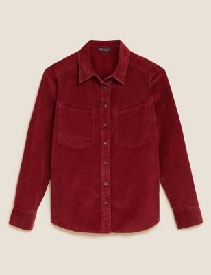 Corduroy Textured Relaxed Shirt