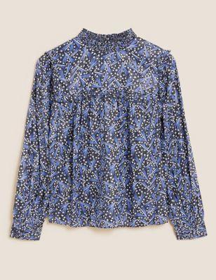 Cotton Modal Printed Regular Fit Blouse