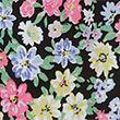 Ditsy Floral Tie Neck Regular Fit Blouse - blackmix
