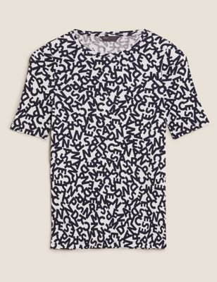 Pure Cotton Printed Regular Fit T-Shirt