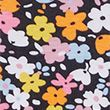 Pure Cotton Floral Regular Fit T-Shirt - blackmix