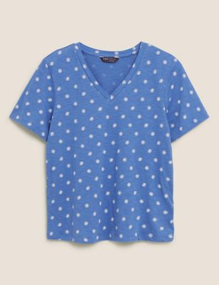 Pure Cotton Printed Straight Fit T-Shirt