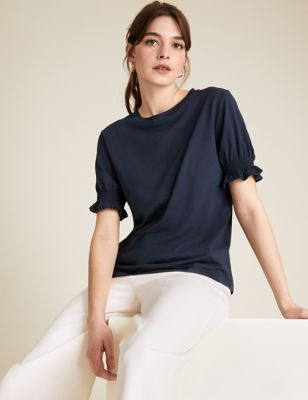 Cotton Modal Crew Neck T-Shirt