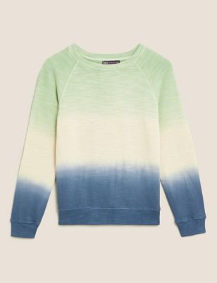Pure Cotton Tie Dye Crew Neck Sweatshirt